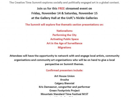 Public talk: Art & Surveillance at the Nickle Gallery (Calgary)