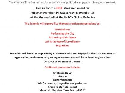 Public talk: Art & Surveillance at the Nickle Gallery (Calgary)