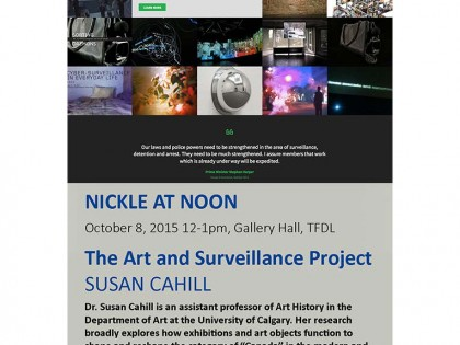 Public talk: Art & Surveillance in Canada at the Nickle Gallery (Calgary)