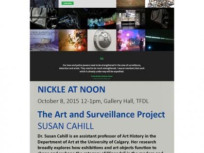 Public talk: Art & Surveillance in Canada at the Nickle Gallery (Calgary)