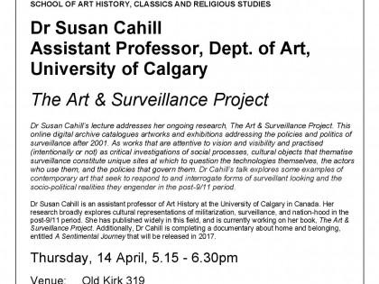Public talk: The Art & Surveillance Project at Victoria University of Wellington (New Zealand)