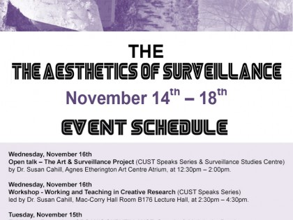 Public Talk: The Art & Surveillance Project at Queen's University (Kingston, ON)